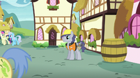 Steam Roller standing in Ponyville S8E3