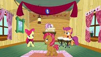 Sweetie Belle formally welcoming Babs Seed S03E04