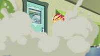 Trixie sets off a third smoke bomb EGFF