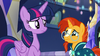 Twilight and Sunburst feel sorry for Starlight S7E24