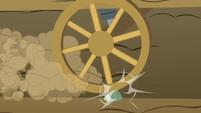 Wheel hits on a rock S4E09