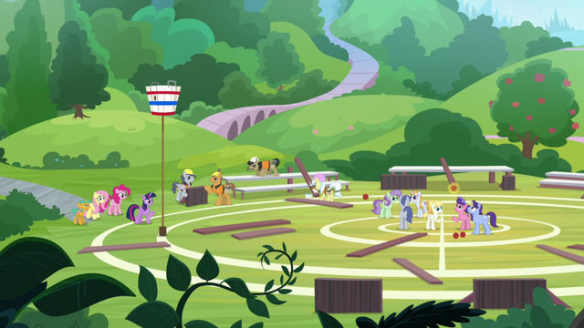 File:Wide view of the school buckball field S9E15.png
