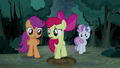 Apple Bloom finds another giant hoofprint S5E6.png