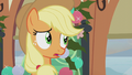 Applejack listening to Granny Smith S5E20.png