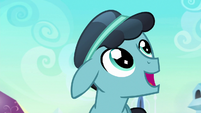 Crystal Hoof in awe of the Crystal Empire S6E16