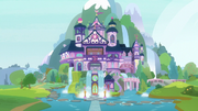Exterior view of the School of Friendship S8E1