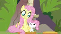 Fluttershy and Angel happy together S9E18