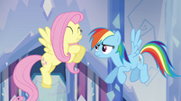 "Fluttershy and Rainbow Dash ""she's so nice!"" S03E12"