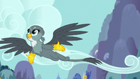 Gabby happily soaring through the sky S6E19