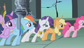 Main 6 anxiously awaiting Luna's response to Celestia's truce S1E02.png