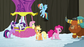Mane Six confronted by Prince Rutherford S7E11.png