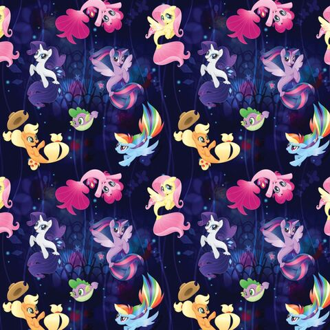 File:My Little Pony The Movie seaponies woven cotton fabric by Etsy.jpg