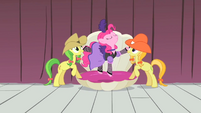 Pinkie Pie being lifted S1E21