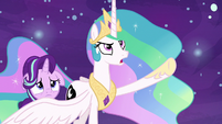 "Princess Celestia ""I'll never turn into you!"" S7E10"