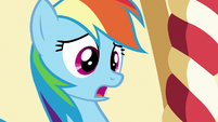 Rainbow surprised to find Pinkie in bed S6E15