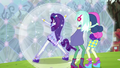 Rarity ponies up as she saves Lyra and Sweetie Drops EG4.png
