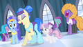 Sapphire and dancers laughing at Rarity S4E19.png