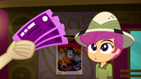 Scootaloo looks at tickets in Apple Bloom's hand SS11