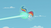 Starlight's magic disabling Rainbow Dash S5E25