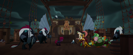 Tempest approaching Capper and the pirates MLPTM