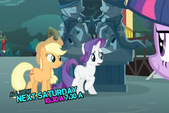 Twilight Sparkle,Applejack and Rarity S3E05