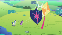 Young Shining's kite knocks into Twilight's S9E4