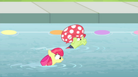 Apple Bloom and Granny swimming in pool S4E20