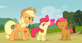 Babs Seed, Applejack, and Apple Bloom S3E8.png