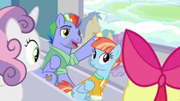 Bow and Windy meet Apple Bloom and Sweetie Belle S7E7