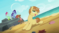 Feather Bangs and backup dancers on the beach S7E8.png