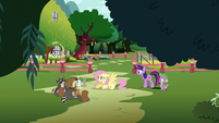 Fluttershy talking to her animals S3E05