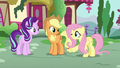 Fluttershy winking at Starlight Glimmer S6E21.png