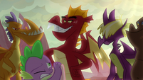 Garble and friends appear before Spike S9E9