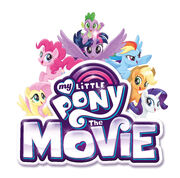 MLP movie logo with the Mane Six