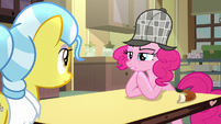Pinkie Pie questioning Dr. Fauna S7E23