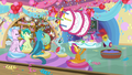 Pinkie firing cake out of her cannon S8 opening.png
