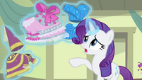 Rarity levitating the improved dresses S4E19