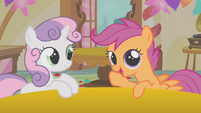 "Scootaloo and Sweetie Belle ""I'm liking this idea"" S01E12"
