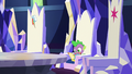 Spike reading a comic in his throne S7E2.png