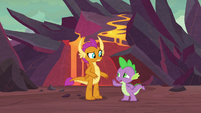 Spike stops Smolder for a moment S9E9