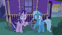 Starlight and Trixie hear Thorax's voice S6E25