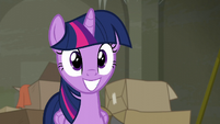 Twilight Sparkle grinning eagerly S6E9