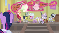 Twilight levitates the band's instruments S9E5