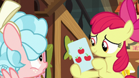 Apple Bloom presenting an honesty card S8E12