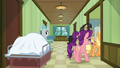 Applejack, Filthy, and Spoiled enter Granny's room S6E23.png