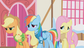 Applejack, Rainbow Dash and Fluttershy are disappointed S1E11.png