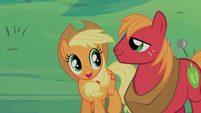 Applejack and Big McIntosh pleased S2E12