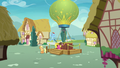 Applejack and Rainbow wait by the balloon S8E5.png