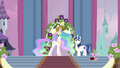 Celestia, Shining Armor and Spike S2E25.png