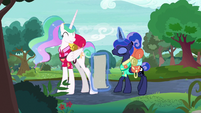 Celestia lands back on the ground S9E13